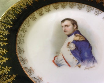Napoleon Portrait Plate 6 3/4 Bavaria. Mackinac Is., Mich Sticker-Nice-Vintage-Reduced