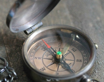 Working Compass, Engravable Compass, Plain Compass CP30 Wedding Gift, Mens Gift, Anniversary Gift
