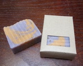 SUN-KISSED LAVENDER- Handmade, cold processed soap made with lavender and orange essential oils