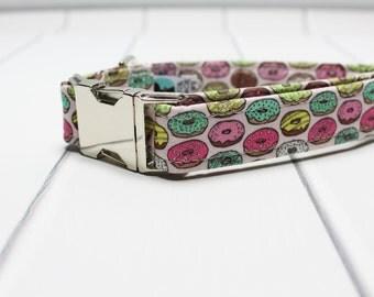 Donut Dog Collar with Metal Side Release Buckle | Unique Dog Collar | Sweet Dog Collar | Made to Order | Doughnut Dog Collar