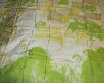 Vintage GOSSAMER Silk Scarf   #080