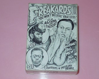 Freakards II Trading Cards Circus Freaks Shel-Tone Publications