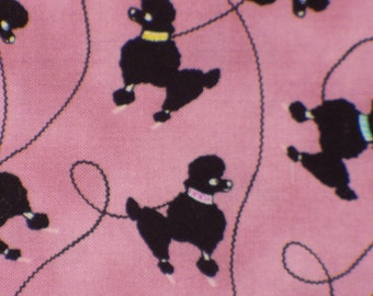 Poodle Fabric, Poodles for Skirts, 1950's Poodles, Rock Around the Clock, Retro Poodles, By the Yard, Cotton Fabric