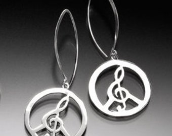 Power of Love (Musical Peace) Earrings