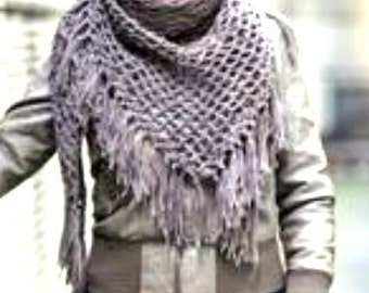 Scarf Shawl Wrap Gypsy Crochet PDF Pattern Is not a finished product. It is a PDF Pattern with instructions to do it yourself.