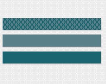 DIY EID Mubarak Mini Flags, Straw Flags - Instant Download - blue, diamonds, party decorations, party theme