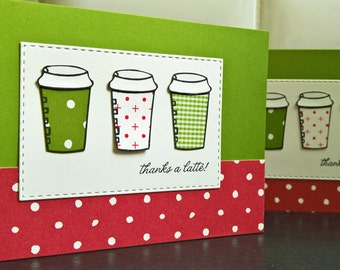 Christmas Gift Card Holder, Gift for Mail Carrier, Thanks a Latte Card, Coffee Lover Gift, Teacher Gift, Gift Card Envelope, Mailman Gift