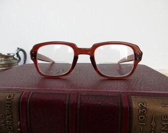 vintage USS tortoise shell eyeglass frames-  military, glasses, 1970s,1980s