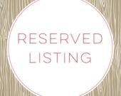 Reserved Listing for JA
