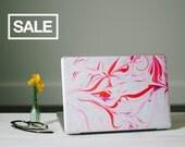 Marble MacBook Skin - Pink, Red and White Vinyl Laptop Skin
