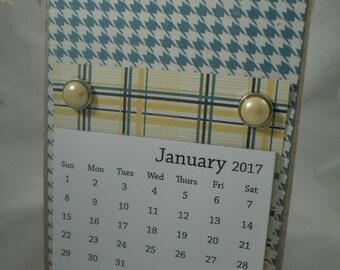 2017 Calendar, Handmade Calendar, Calendar, Desk Calendar, Teacher Gift, Coworker Gift, Christmas Gift