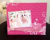 Pretty Pink Tutu Ballerina Dance Magnetic Frame