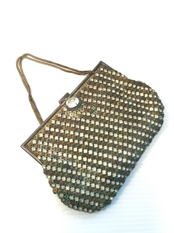 Antique Purse . Evening Bag . As Is For Repair Parts No.00700 hs