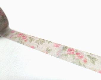 Vintage Rose Washi Tape 15mm x 10m