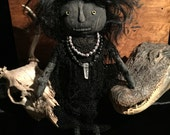 "Voodoo Hoodoo Conjure Doll ""Banshee"" with real Human Hair at Gothic Rose Antiques"