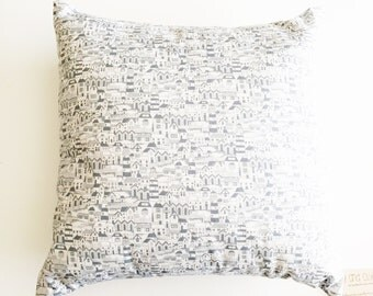 "Beach Pillow Cover 16"" x 16"" Pillow - with or without pillow insert - Lighthouse Style"