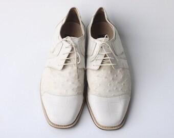 Vintage Fortune fom Liberty Men's White Dress Shoes