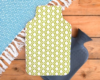 Hot Water Bottle Honeycomb Print
