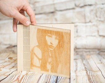 Nicki, Personalized Cd / Dvd Case, Wood Cd/ Dvd Case, Wedding Case, Personalized Wooden Case, Wedding Gifts, Gift Ideas, Woodworking, Wood