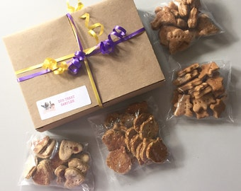 Dog Treat Sampler - 4 different flavors - 50 mini treats - great for new customers! Free Shipping - Try me
