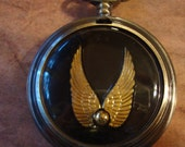 Harry Pocket, Not a Pocket Watch, it's a Golden Snitch TimeLess TimePiece, Ornament/Pendant - you choose ala carte OR w. chain OR w. stand