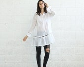 Valentines day SALE*Tunic Dress , White.