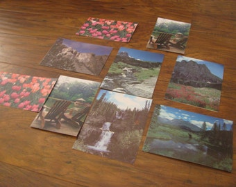 1980s- 9 photo blank cards featuring photography of Carla and Ernest Zemke Cody, WY