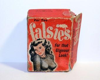 Vintage Falsies Gag Gift, Falsies Teeth Gag Gift, 50s False Teeth Gag Gift