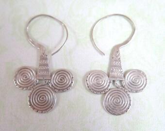 Hammered, Handmade, Industrial Earrings