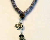 Mala Beads, Mala Necklace, Spiritual Beads, Agate Mala, Tassel Beads, Elephant