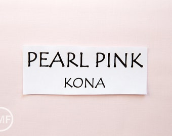 One Yard Pearl Pink Kona Cotton Solid Fabric from Robert Kaufman, K001-1283