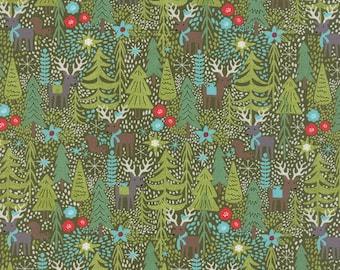 Juniper Berry Reindeer Games in Pine Green, BasicGrey, 100% Cotton, Moda Fabrics, 30430 14