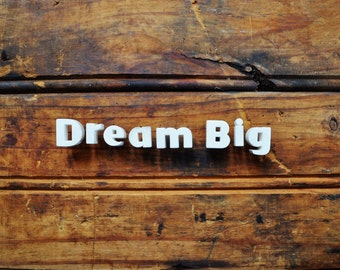 DREAM BIG - Vintage Ceramic Push Pins