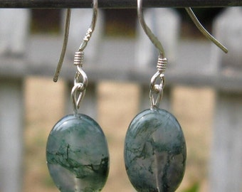 Moss Agate Earrings  #10