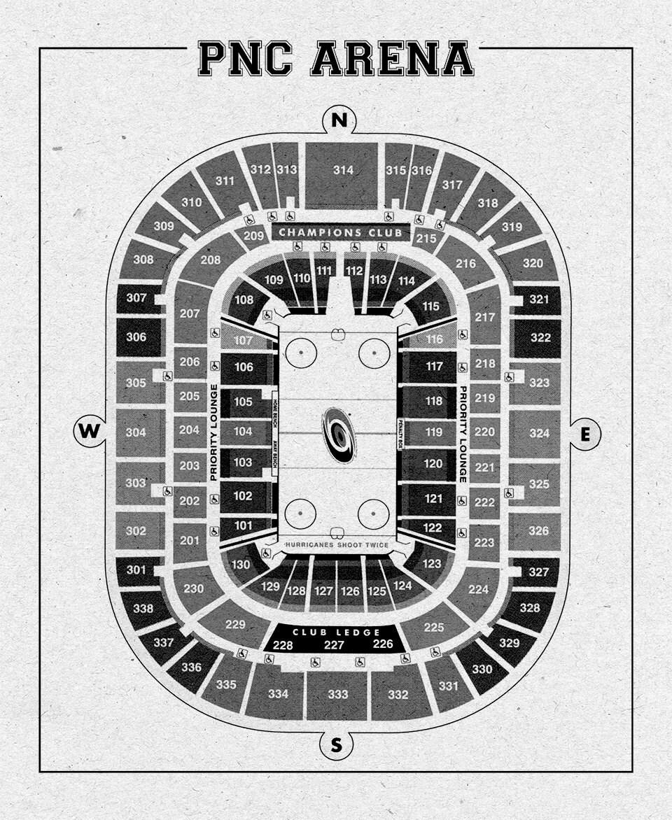 Vintage pnc arena carolina hurricanes on photo paper for 12x15 calculator