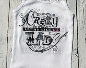 Hide your crazy and start acting like a lady |tank| tee shirt |tshirt| cap sleeve| ribbed tank|childrens tshirt .