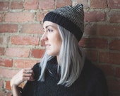 Highland Hat - Black & White Stipe - 100% Recycled Cotton - Eco Friendly - Made to Order