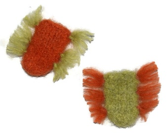 Cat Toy - StinkBugs Valerian Root and Organic Catnip Toy - Whiffy and Whew- Hand Knit Felted Wool - No polyfil, Pure Herb Stuffing