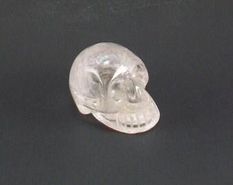 Quartz Crystal Natural Stone Skull 1.75 Inch