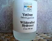 Hydrosol - Wildcrafted Vetiver Hydrosol - Resinous, Deeply Aromatic, Facial & Body Spray - Vetiver Hydrosol