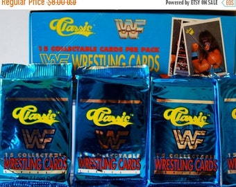 ON SALE WWF Wrestling Cards Classic 1989 lot of 4 packs