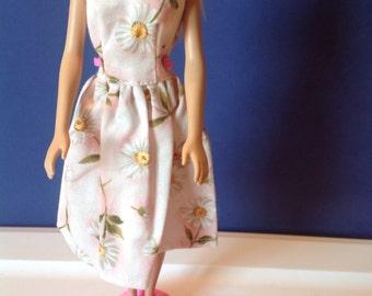 Modest Handmade 11-1/2 inch doll Scoopback Dress