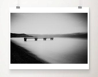 Nice photograph black and white photography ocean photograph France photograph pier photograph beach photograph Nice print