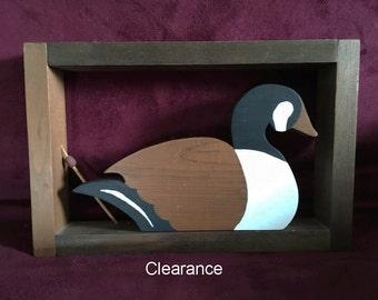 Canada Goose, Canadian Goose, Goose Picture, Goose Art, Folk Art, American Folk Art, Rustic Decor, Wooden Goose, Hand Painted Goose, Geese