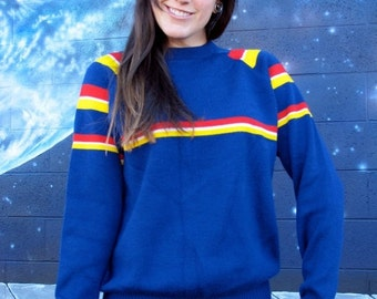 SALE SALE 1970s SKI Sweater Acrylic by Aspen Skiwear // Womens Size Medium