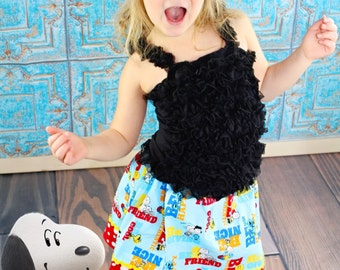 Be a Friend skirt  made with authorized Peanuts  Worldwide LLC fabric  (18 mos - size 7)