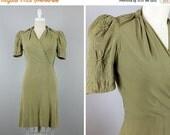 FALL SALE 20% OFF Late 30s-40s Dress --> 30s Dress --> 1930s Dress --> 30s Day Dress --> 1930 Dress --> 40s Dress --> Dress 1930s --> 1940s