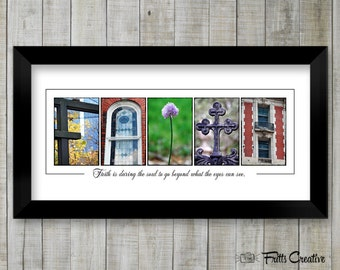 Faith Sign, Christian Wall Art, Inspirational Print in Alphabet Letter Photography, Religious wall decor