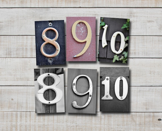 Photo Numbers 8,9, & 10, 4x6 photo number, print only, dates, wedding, birth date, anniversary