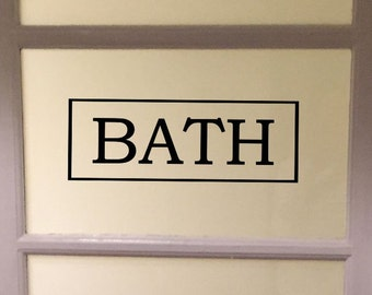 Bath decal / Utility room / vinyl sign / decal / vinyl decal / Pantry decal / closet / kitchen / Laundry / Labels
